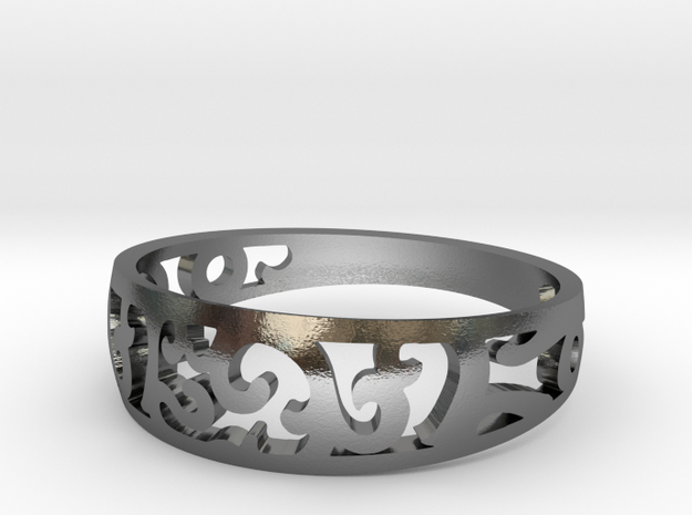 Ring size 12 in Polished Silver