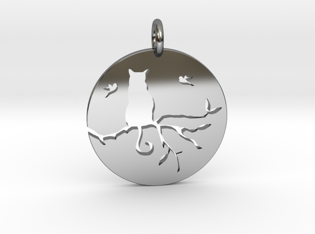 The Cat in Fine Detail Polished Silver