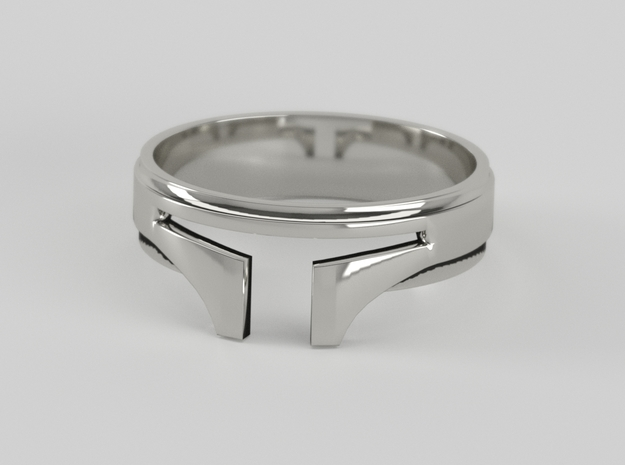 Bounty Hunter ring size 8 in Raw Silver