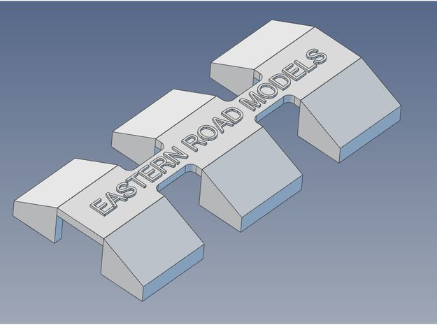 CP GP-7 GP-9 Pilot Blocks X 6 HO 9mm in Smooth Fine Detail Plastic