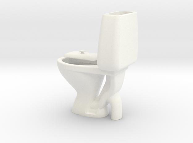 Miniature Toilet Seat A 1/12 in White Processed Versatile Plastic