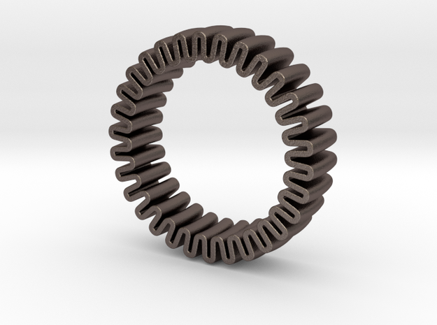 MYTO U // Mitochondria Ring in Polished Bronzed Silver Steel