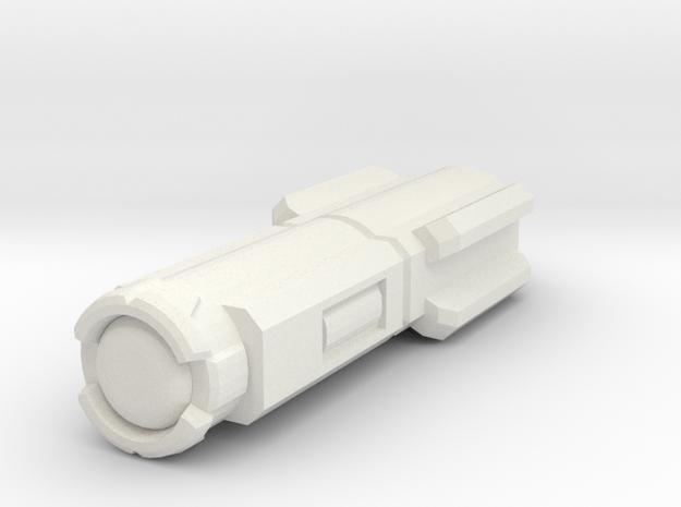 Laser - Single in White Natural Versatile Plastic
