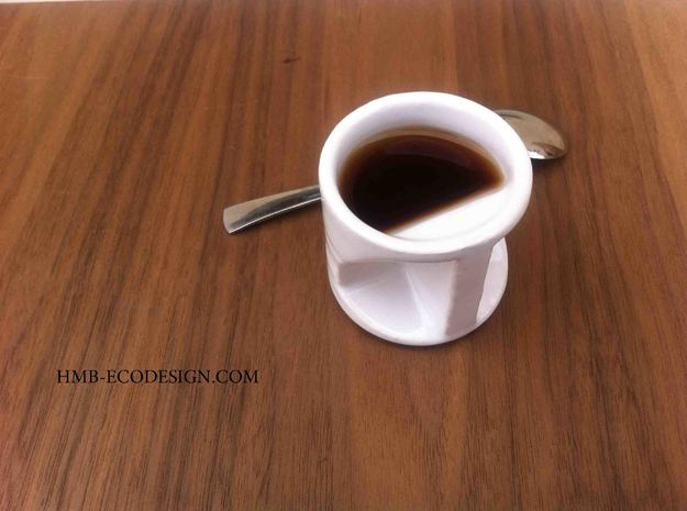 expresso coffee cup Father's day  in White Strong & Flexible