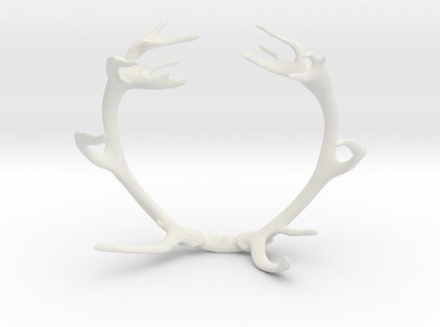 Red Deer Antler Bracelet 60mm in White Strong & Flexible