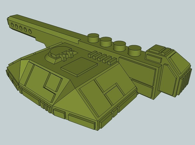 6mm Sci-Fi Tank Turrets (12pcs) in Smooth Fine Detail Plastic