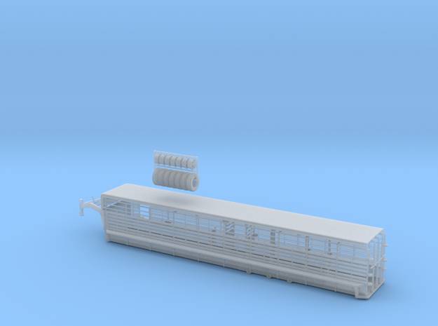 1/64 40' Cattle Trailer Bar Style  in Smooth Fine Detail Plastic