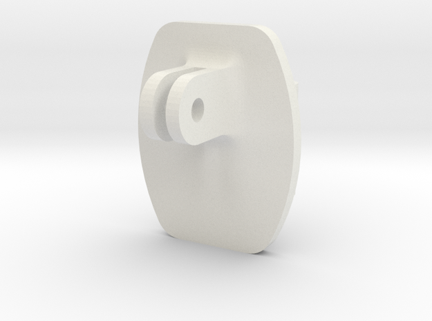 Custom GoPro Adapter in White Natural Versatile Plastic