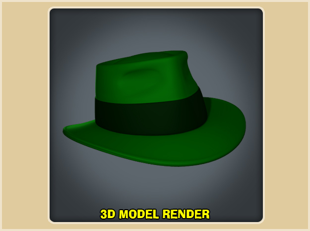Green Hornet Fedora - Year One in White Processed Versatile Plastic