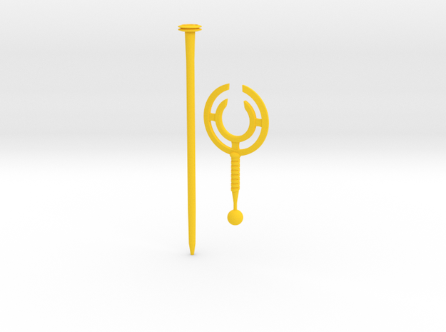 cyclone staff in Yellow Processed Versatile Plastic