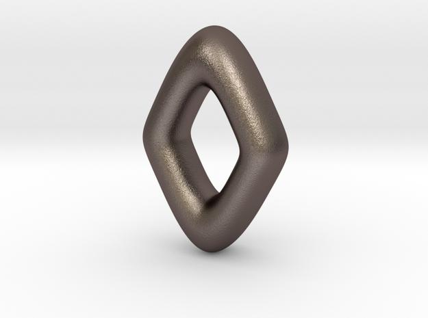 RUNE - Z in Polished Bronzed Silver Steel