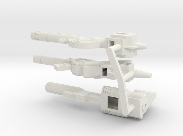 TW Dinobot Guns Set M in White Natural Versatile Plastic