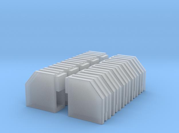 1/87 Bk/Bar/001 in Smooth Fine Detail Plastic