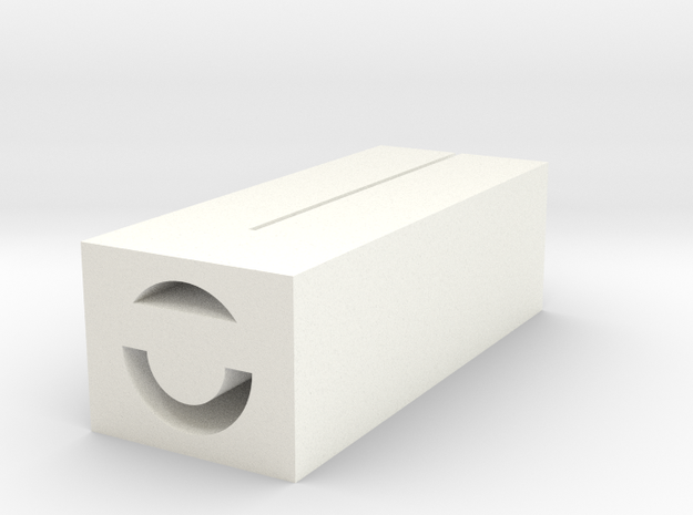 6/10mm Tube Cutter, 3mm Deep in White Processed Versatile Plastic
