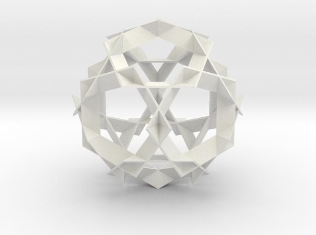 Asterisk Ball - 9.6 cm in White Strong & Flexible