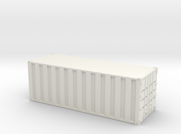 20 Foot Container - Ribbed - Custom Scale in White Natural Versatile Plastic