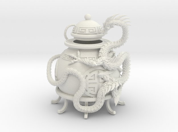 Prosperity Dragon Votive Shade in White Natural Versatile Plastic