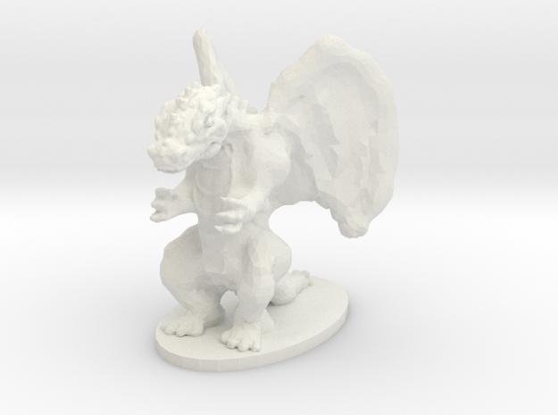 Dragon Miniature in White Natural Versatile Plastic