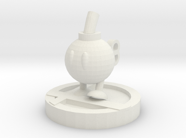 Bob-omb Trophy in White Natural Versatile Plastic