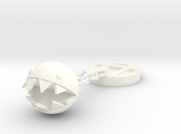 Chain Chomp Trophy in White Processed Versatile Plastic