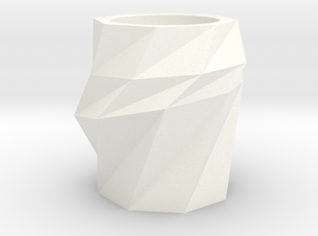 pencil vase in White Strong & Flexible Polished