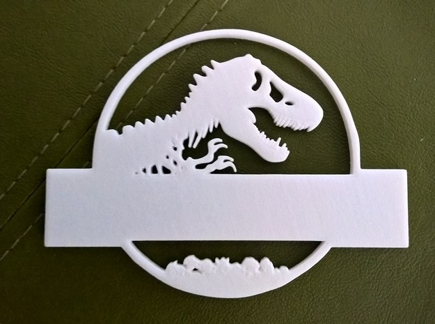 Jurassic World Nametag Top-Plate