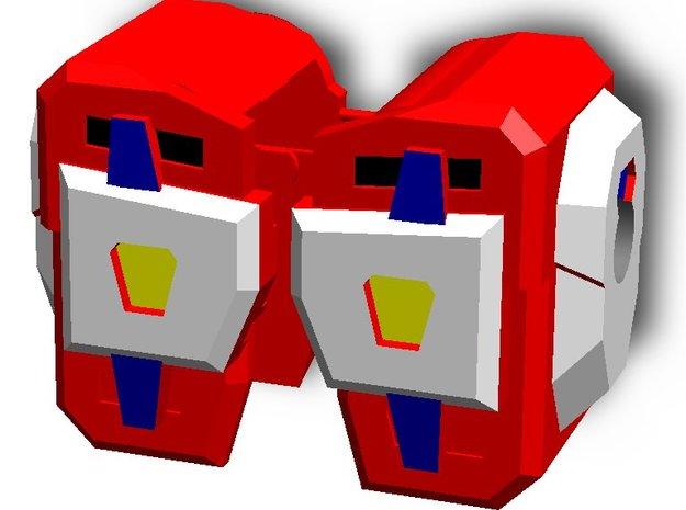 Shoulder pads for Transformers Evasion Optimus in White Strong & Flexible
