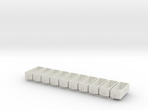 1/160 Spur N scale Abrollbehälter hoch 10er