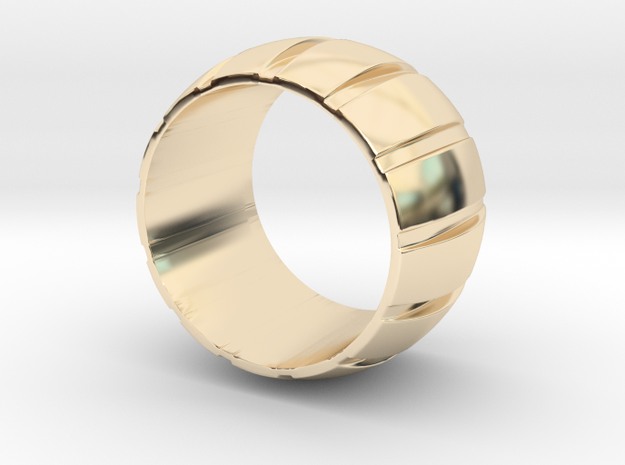 Smoothed Gear Ring - Size 8.5 in 14K Yellow Gold