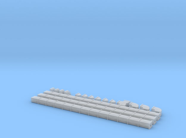 N Scale Air Duct Set 3x4x6