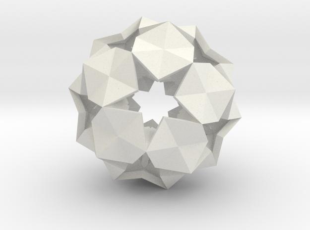20 Hexagons Ball - 2.8 cm in White Strong & Flexible