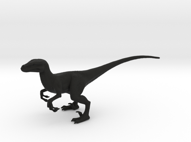 Velociraptor in Black Natural Versatile Plastic