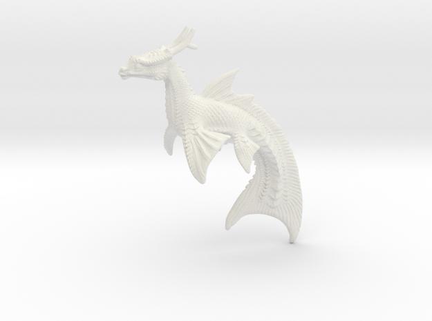 Koi Dragonfish in White Natural Versatile Plastic