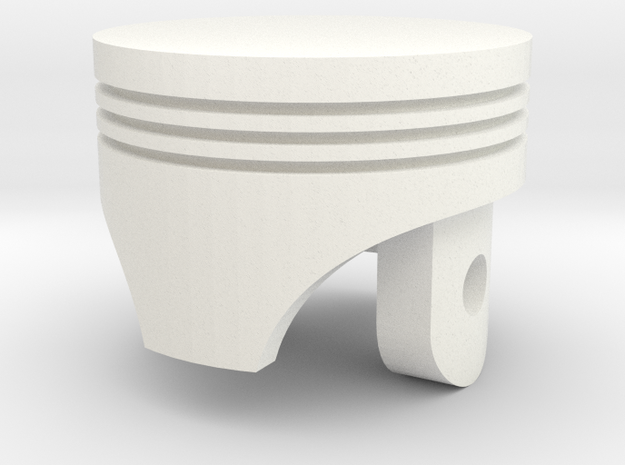 Piston Head. First Real Design :3  in White Strong & Flexible Polished