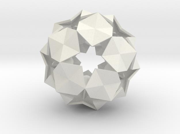 20 Hexagons Ball - 5.6 cm in White Strong & Flexible