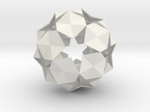 20 Hexagons Ball - 11.2 cm in White Strong & Flexible