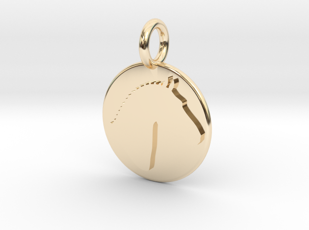 Branded Simple Earring (The Marketingsmith) in 14K Gold
