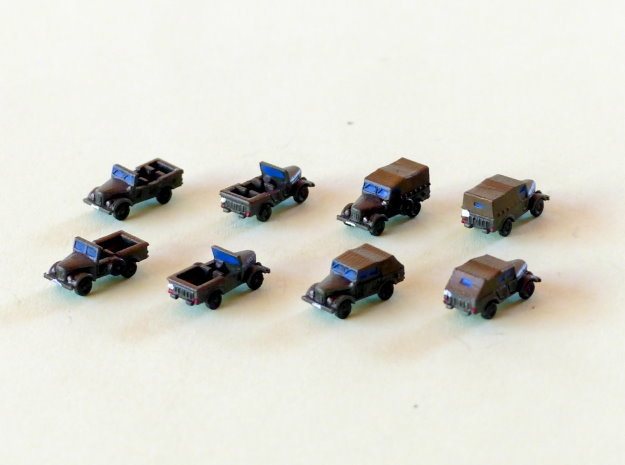Russian GAZ 69 Jeep 1/285 6mm in Smooth Fine Detail Plastic