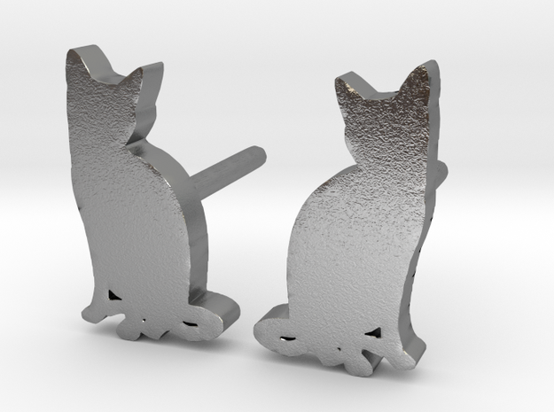 Cat Studs (Ver. 2) in Natural Silver