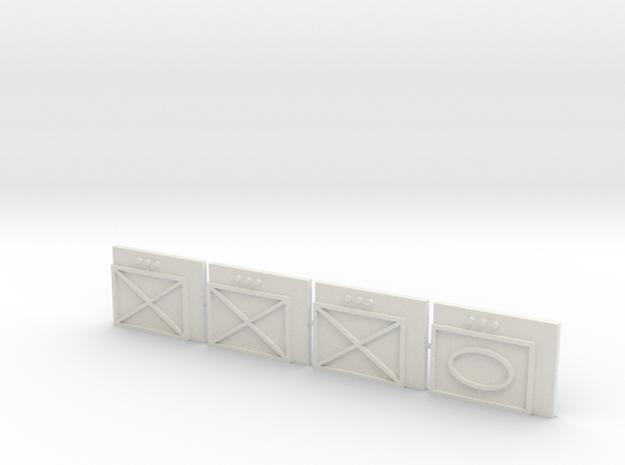 Unit Tiles (x4) in White Natural Versatile Plastic