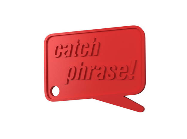 Catchphrase! Custom Keychain in White Strong & Flexible