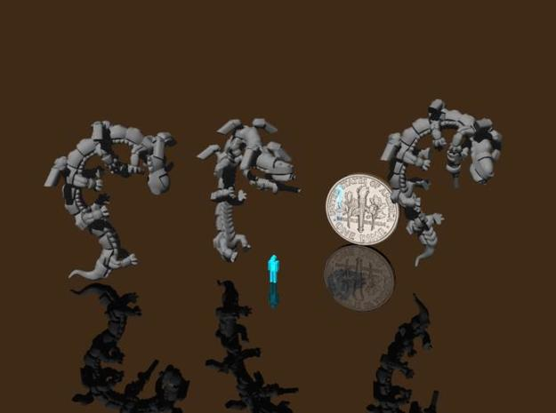 6mm Dragonoid Jetpack users 3d printed Dragonoid infantry using their power armor jumpjets