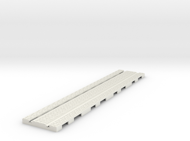 P-165stw-long-straight-tram-track-100-w-3a in White Natural Versatile Plastic