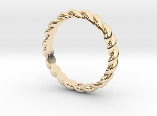 Womans Rope Ring Size 5 in 14K Yellow Gold