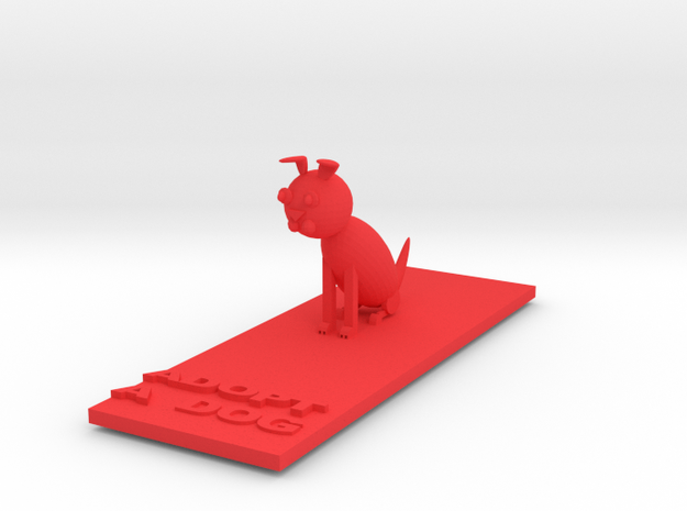 Dog Statue in Red Strong & Flexible Polished