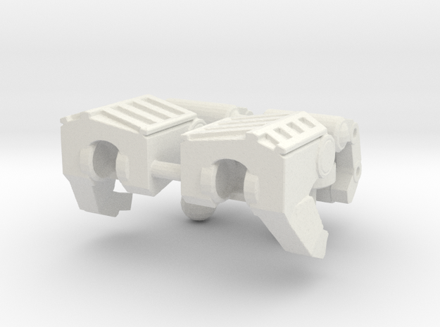 TF4: AOE Evasion Suit Hands (solo) in White Natural Versatile Plastic