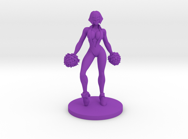 Cheerleader #2 for Slaughterball in Purple Processed Versatile Plastic