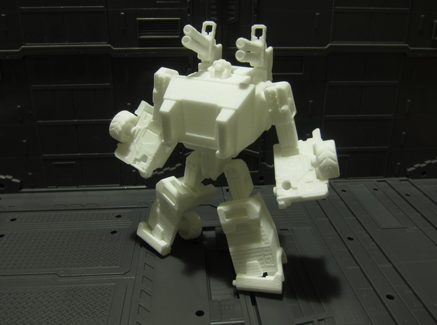 OUTLAND - transforming to robot from off load car in White Natural Versatile Plastic