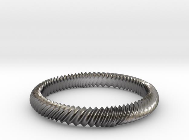MARLA bangle  in Polished Nickel Steel
