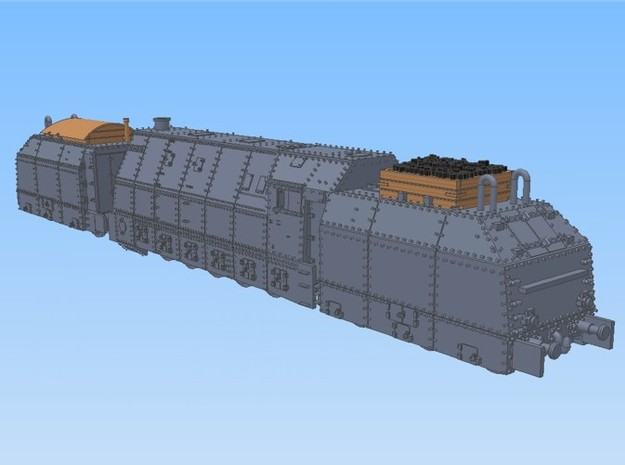 1-160 BR 57 Armored Loco + 2 Tenders For BP-42